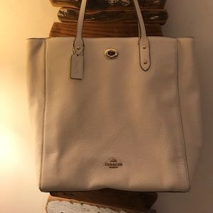 NWT Authentic Ivory Coach Purse